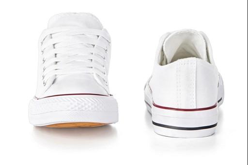 Buty sportowe Trampki damskie BIAŁE Tenisówki 35