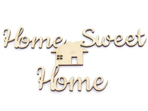 DECOUPAGE NAPIS 'HOME SWEET HOME' 22x11.2cm DO43