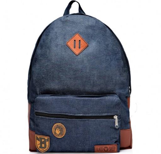 1e8bb5f2359e9 Plecak szkolny młodzieżowy damski męski JEANSOWY 7019561502 - Allegro.pl