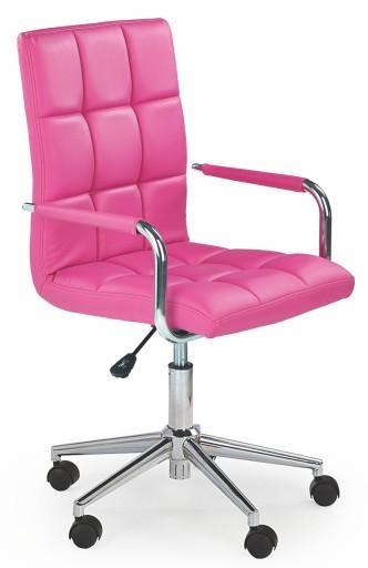 Krzesło obrotowe młodzieżowe RÓŻOWE GONZO 2 24H