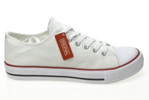 Buty sportowe Trampki damskie białe Tenisówki
