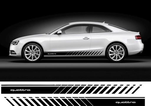 Audi Quattro Pasy Auto Grafika Naklejki Tuning 7652284071 Allegro Pl