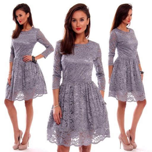 luźne sukienki koktajlowe 3 4 rekaw kod sukienki