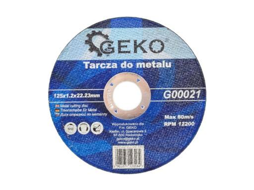 TARCZA TARCZE DO CIĘCIA METALU 125x1,2 GEKO