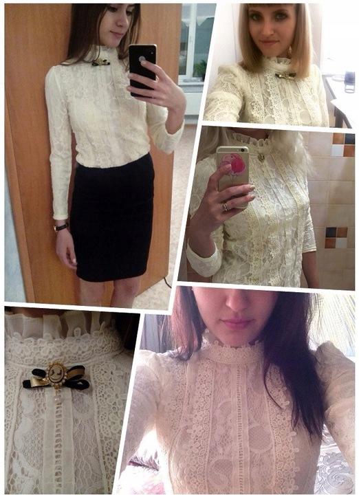 Original lace blouse shirt HIT S 9664447276 Odzież Damska Topy KT FFBDKT-8