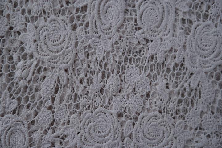 Ażurowa bluzka NEW LOOK ecru haft bawełna r.M hit 8938170165 Odzież Damska Bluzki TQ RTTOTQ-7