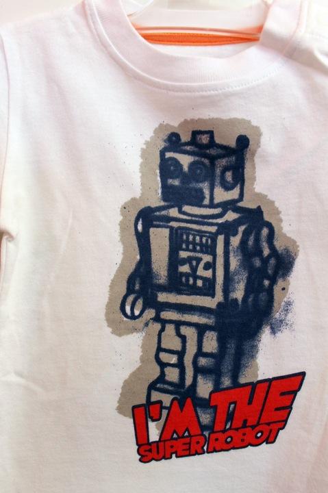 ZARA t-shirt koszulka ROBOT 6-9 m-cy 68-74 cm 9100992414 Dziecięce Odzież OK PKXLOK-3