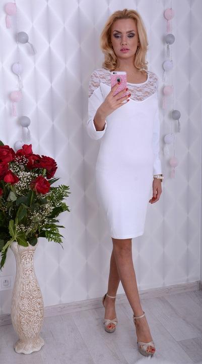 MODNA SUKIENKA KORONKOWA DEKOLT SEXY IMPREZOWA 826 9495893678 Odzież Damska Sukienki wieczorowe NI JYLKNI-4