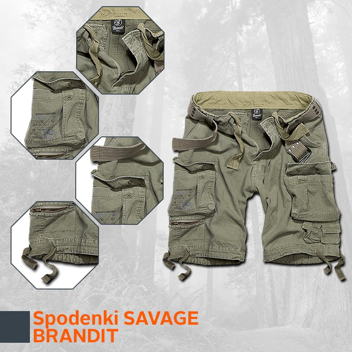 Brandit Spodenki BojÓwki Savage Division XXL PAS 9170636946 Odzież Męska Spodenki UE EDMLUE-2