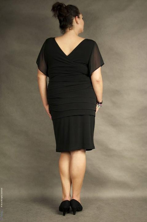 ALESSANDRA DUO 4 KOLORY (44-56) TU 56 9534555223 Odzież Damska Sukienki wieczorowe OP LKDMOP-2